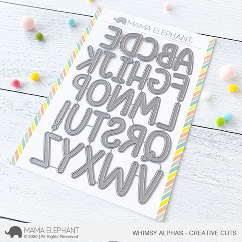 *NEW* - Mama Elephant - Whimsy Alphas - Creative Cuts