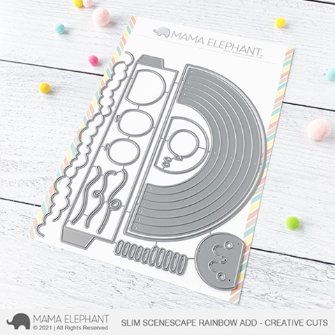 *NEW* - Mama Elephant - Slim Scenescape Rainbow Add - Creative Cuts
