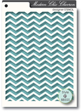 Memory Box - STENCIL- Chic Chevron