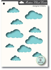 Memory Box - STENCIL- Cloud Cover