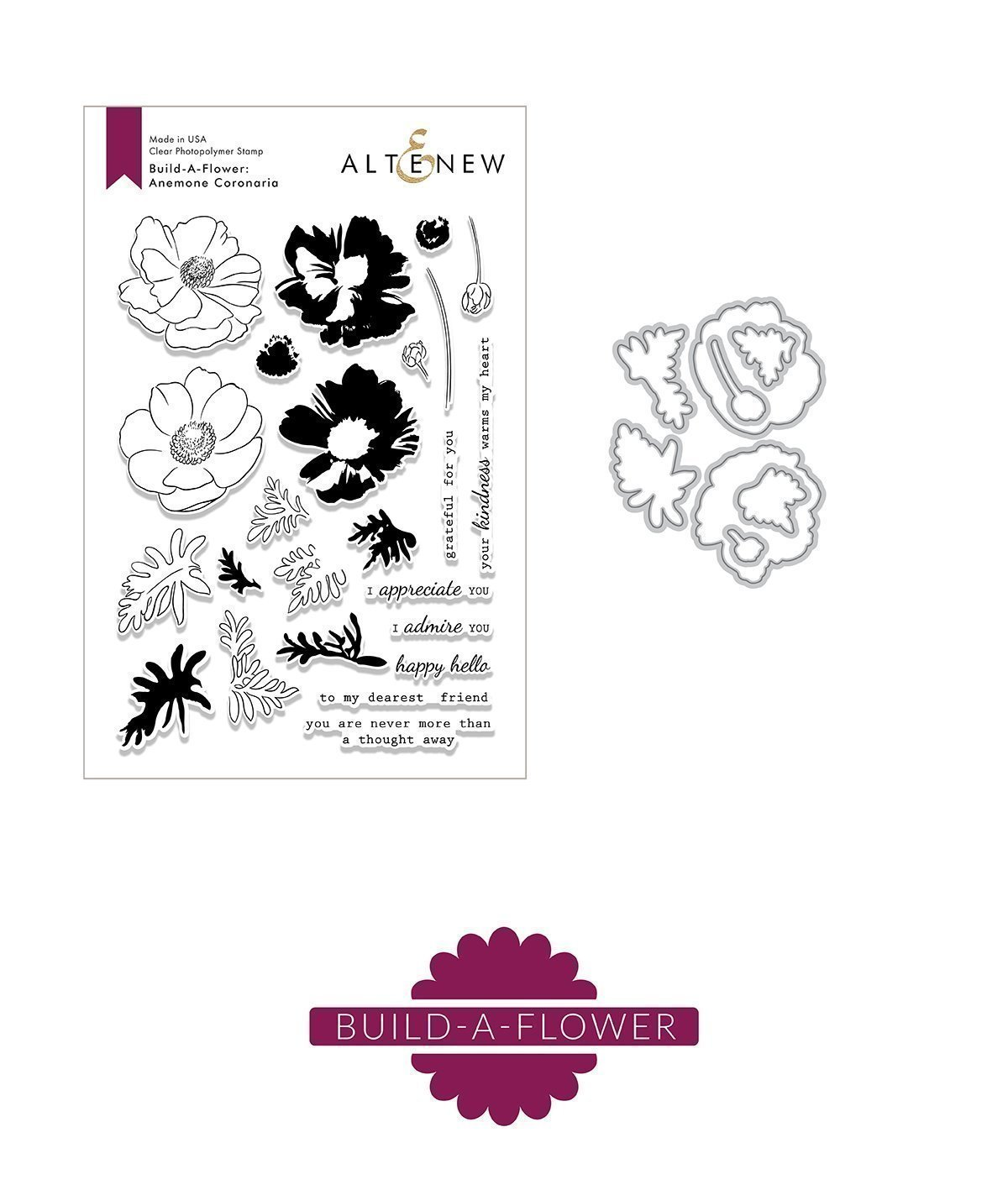 *NEW* - Altenew - Build-A-Flower: Anemone Coronaria