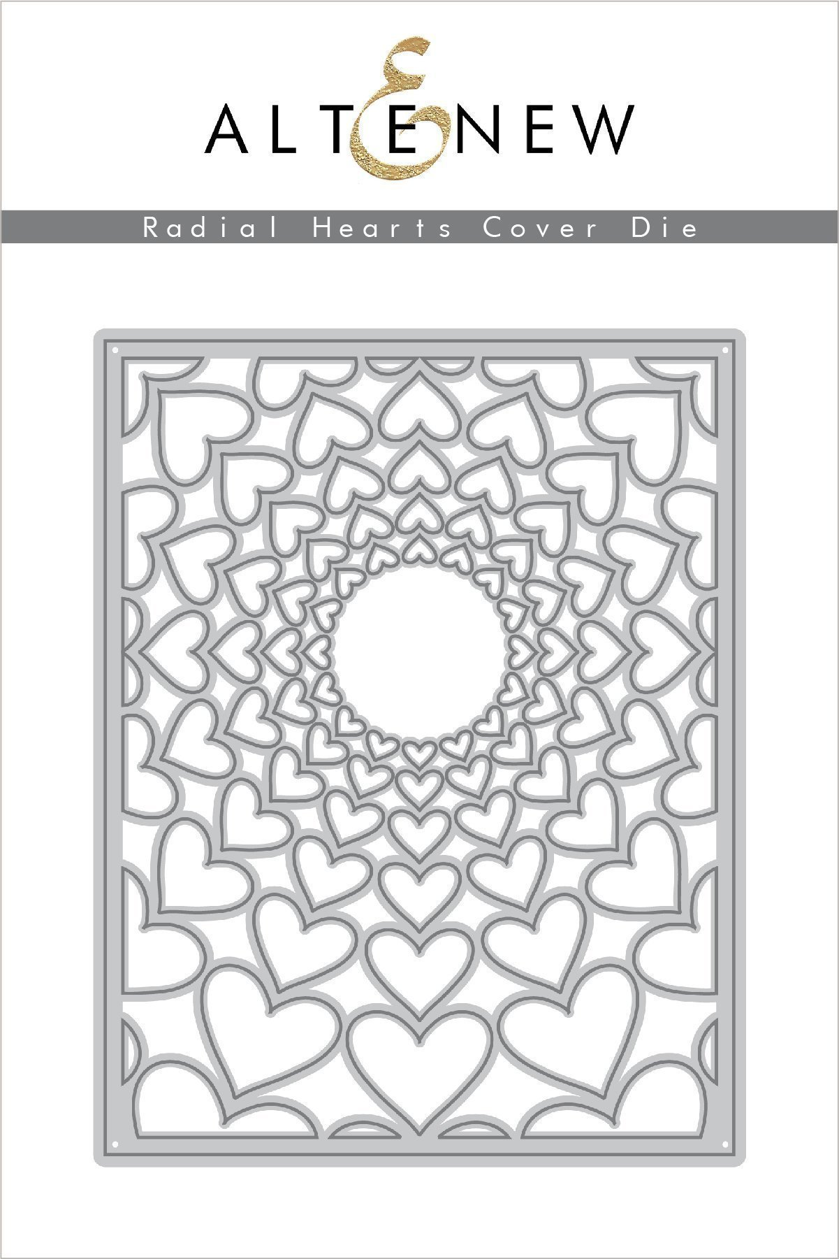 *NEW* - Altenew - Radial Hearts Cover Die