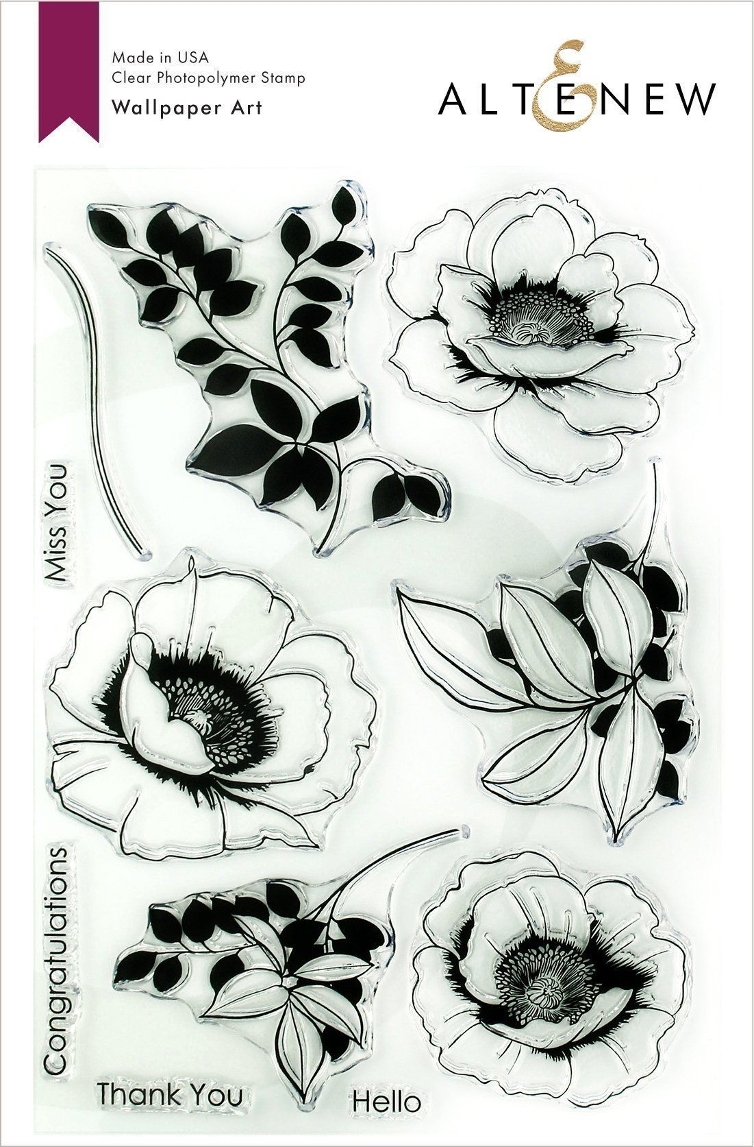 *NEW* - Altenew - Wallpaper Art Stamp Set