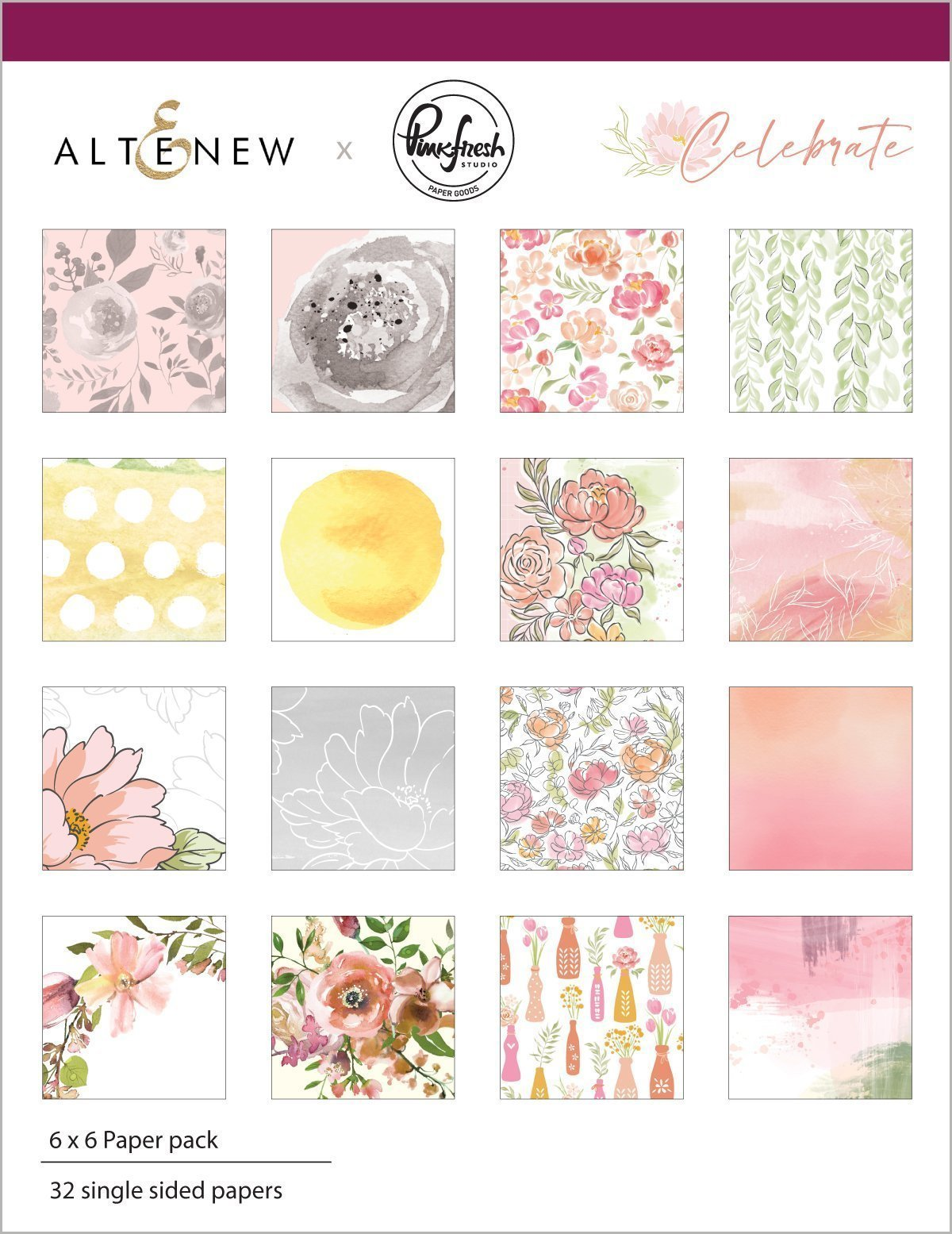 *NEW* - Altenew - Celebrate 6x6 Paper Pack