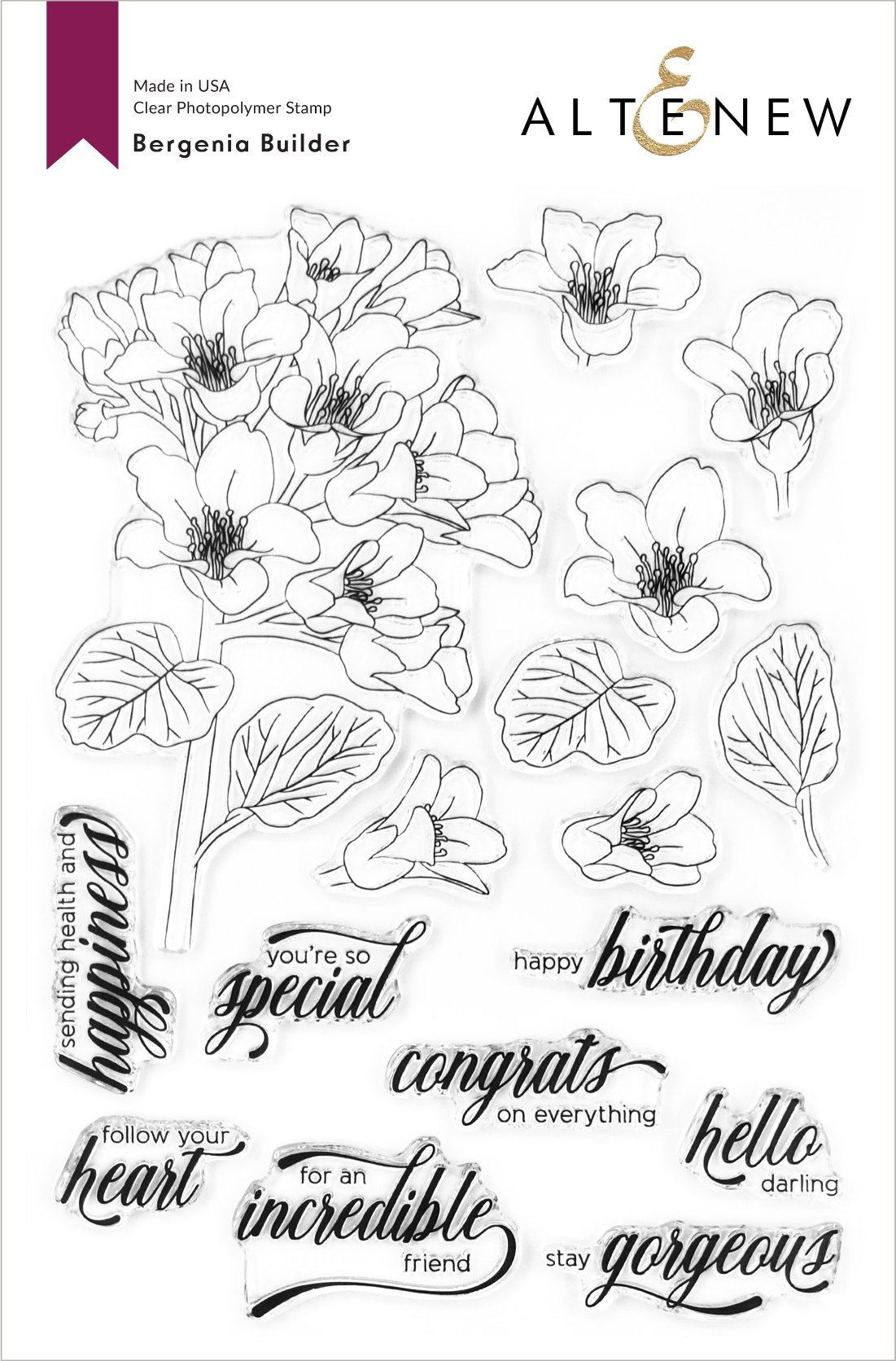*NEW* - Altenew - Bergenia Builder Stamp Set