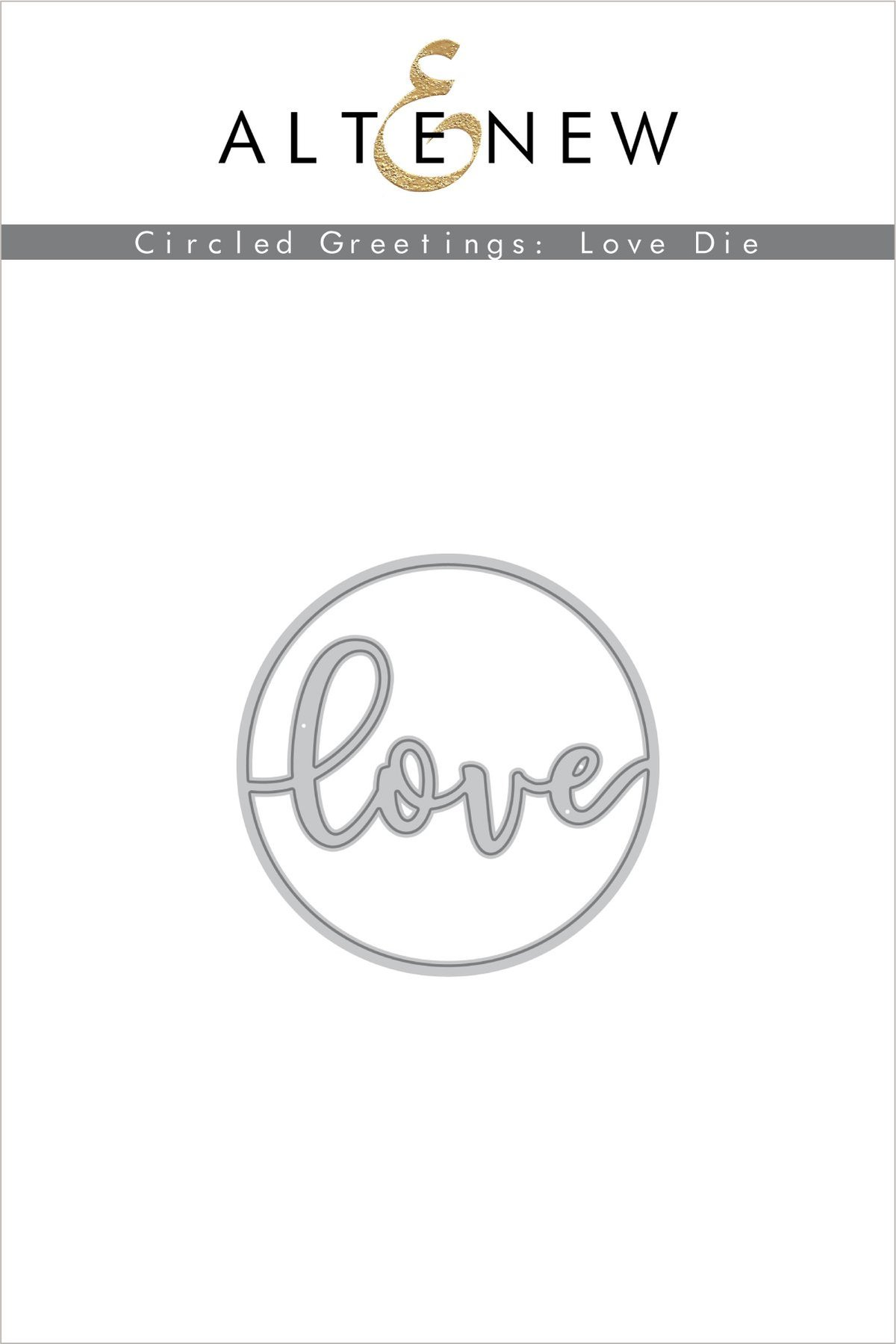 *NEW* - Altenew - Circled Greetings: Love Die