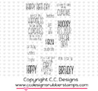 AmyR Stamps HB2U Sentiments Rubber Stamps