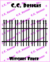 **JS** C.C. Designs Cutters Witches Fence Die
