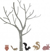 Cheery Lynn - Birch Tree with Cute Critters