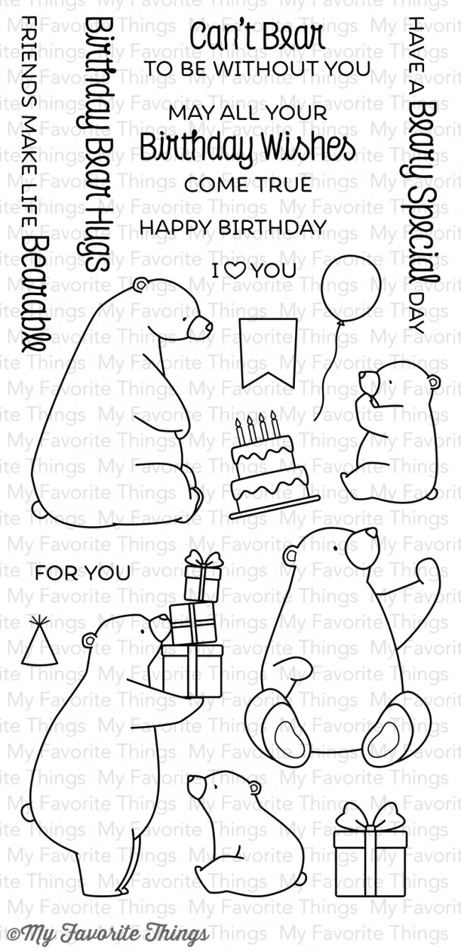 My Favorite Things - Birthday Bears Stamp Set