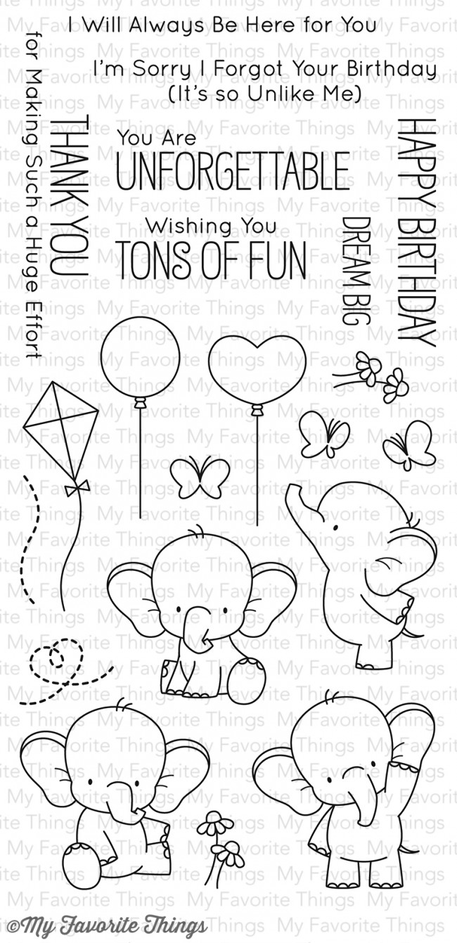 My Favorite Things - Adorable Elephants Stamp Set