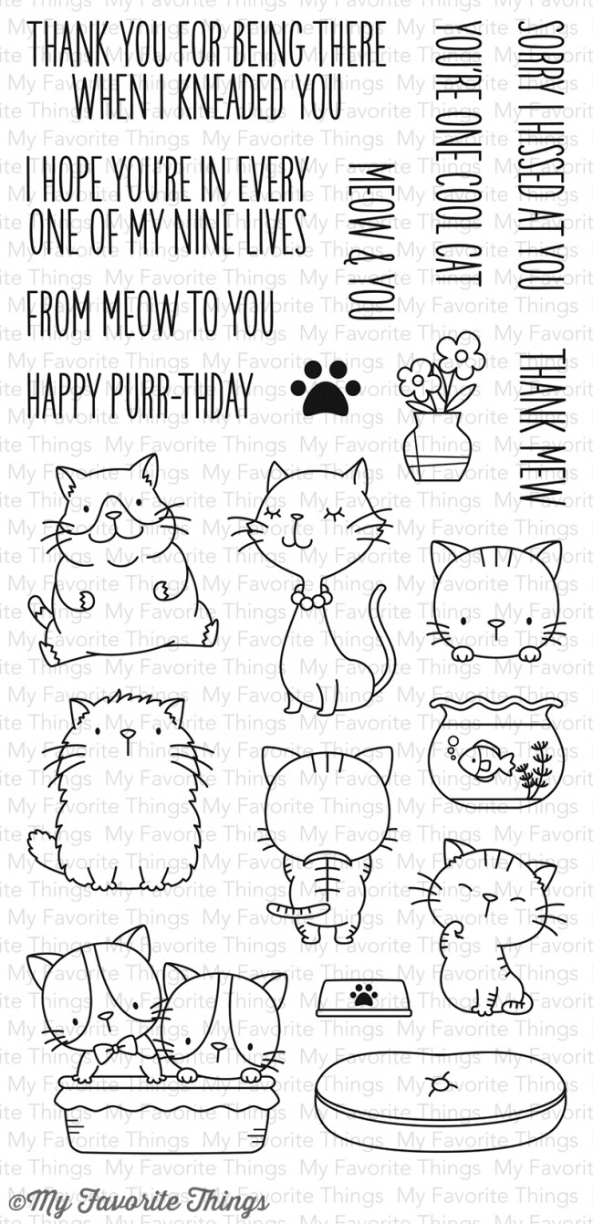 My Favorite Things - Cool Cat Stamp Set