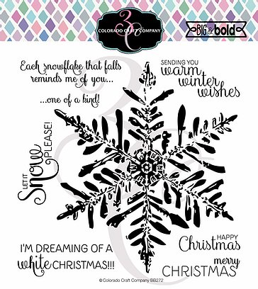 Colorado Craft Company - Big & Bold~Winter Wishes Snowflake