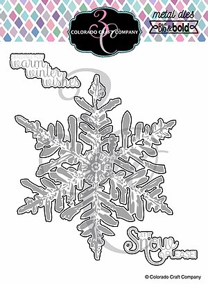 Colorado Craft Company - Big & Bold~Warm Wishes Snowflake Dies