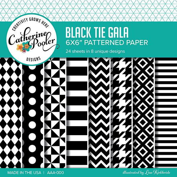 Catherine Pooler - Black Tie Gala Patterned Paper