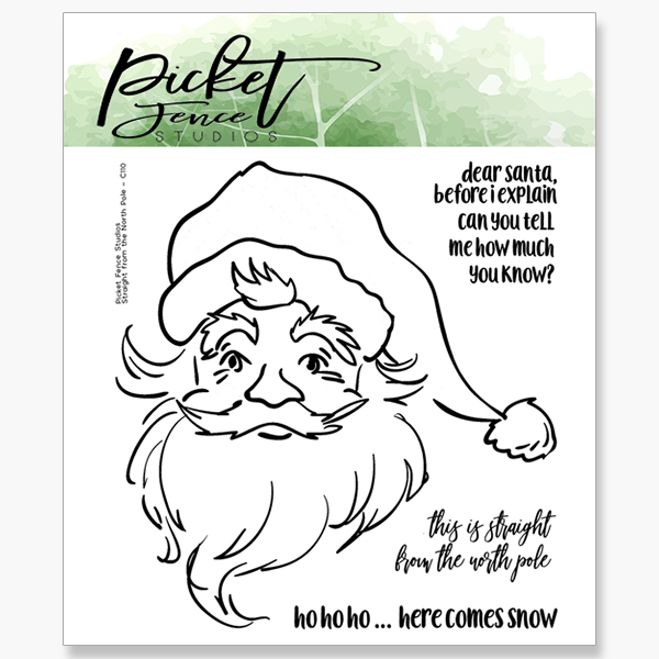 Picket Fence Studios - Straight From The North Pole STAMP AND MATCHING  DIE