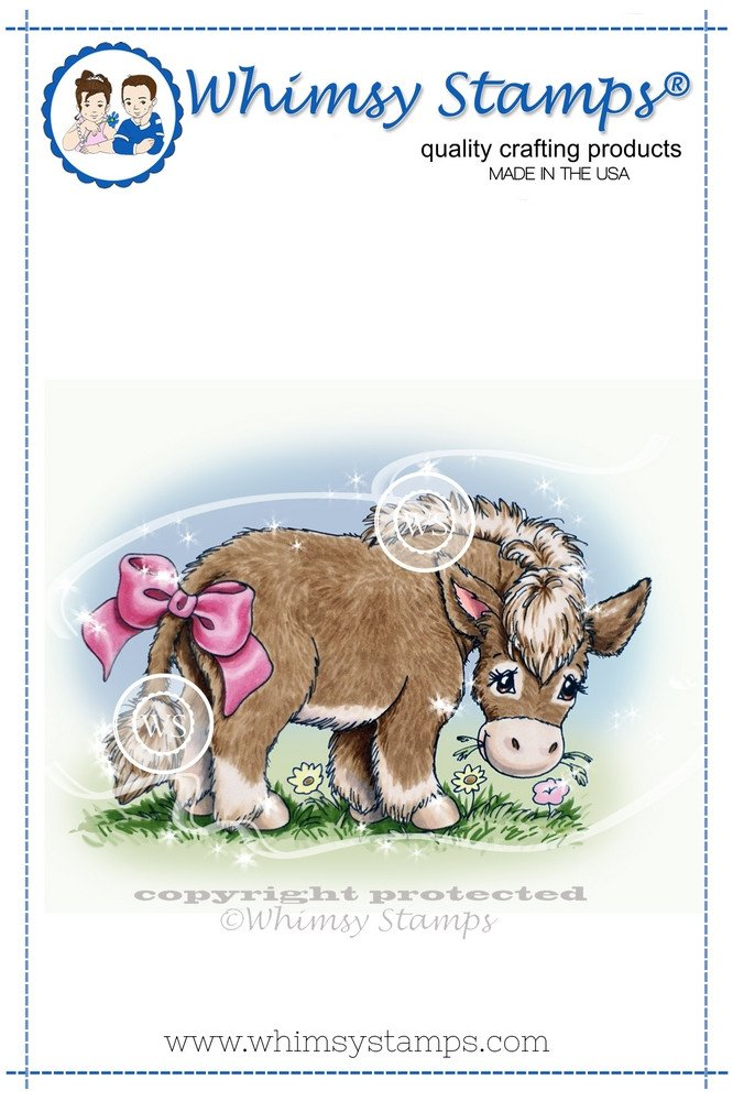 Whimsy Stamps - Pin the Tail Donkey - Crissy Armstrong Collection