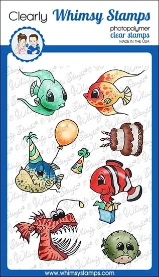 *NEW* - Whimsy Stamps - Best Fishes Clear Stamps