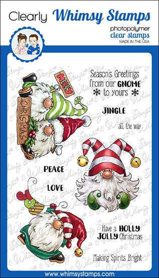 Whimsy Stamps - Gnome for Christmas Clear Stamps
