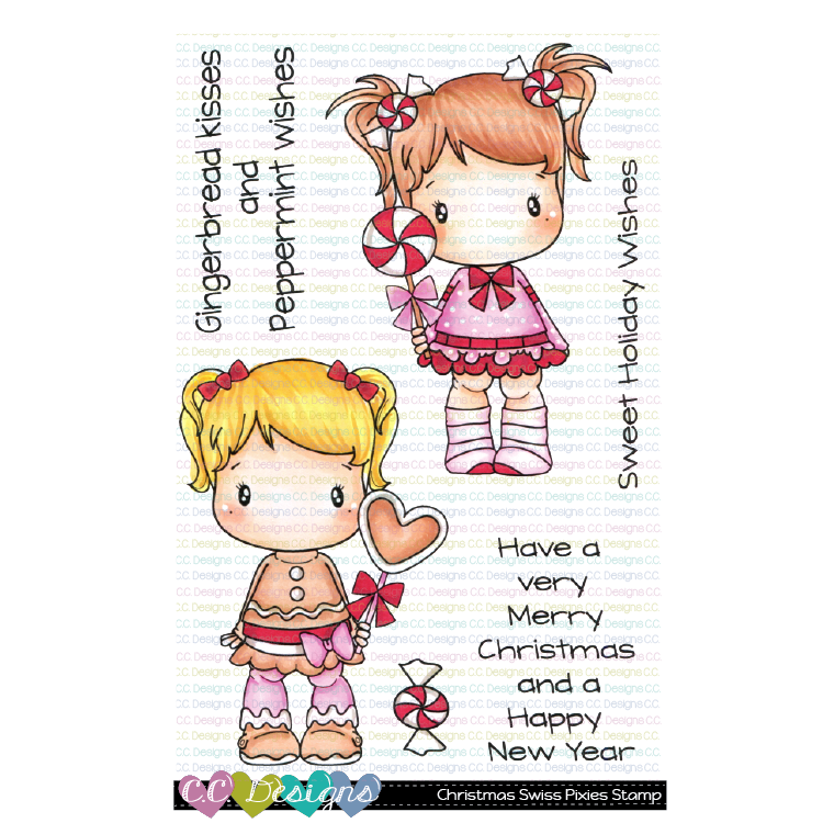 *NEW* - CC Designs - Christmas Swiss Pixie Clear Stamp Set