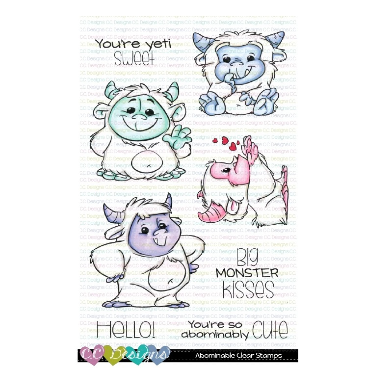 *NEW* - CC Designs - Abominable Clear Stamp Set