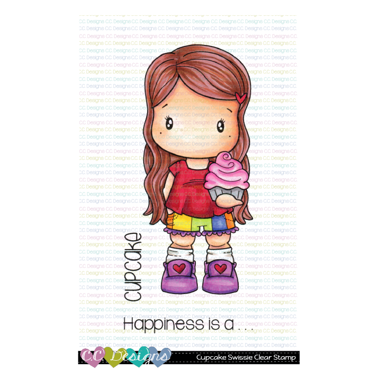*NEW* - CC Designs - Cupcake Swissie Clear Stamp Set