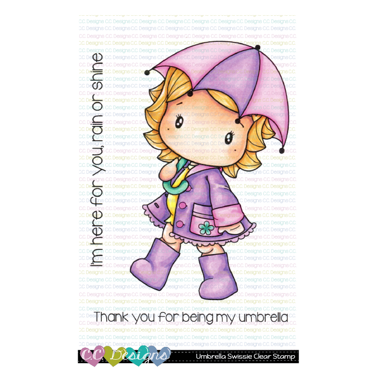 *NEW* - CC Designs - Umbrella Swissie Clear Stamp Set
