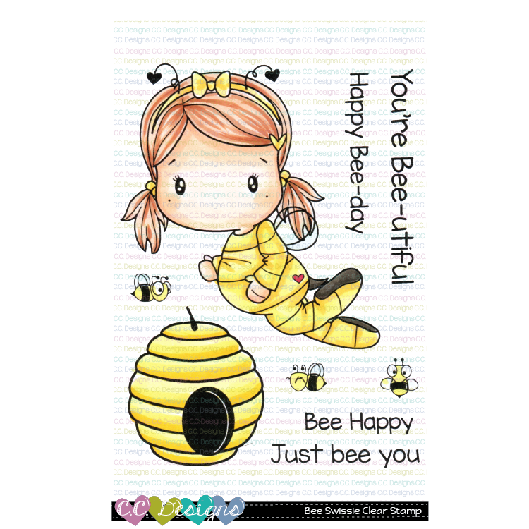 *NEW* - CC Designs - Bee Swissie Clear Stamp Set