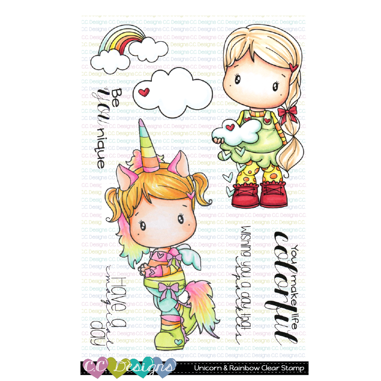 *NEW* - CC Designs - Unicorn & Rainbow Clear Stamp Set
