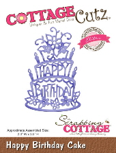 Cottage Cutz - Happy Birthday Cake