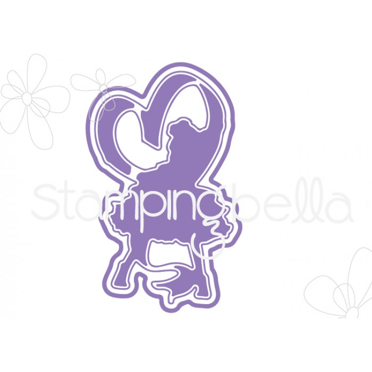 *PRE-ORDER* - Stamping Bella - tiny townie raven loves ribbon CUT IT OUT DIE