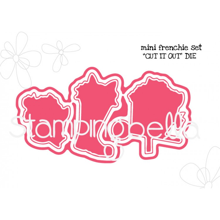 Stamping Bella - Mini Frenchie set CUT IT OUT DIE