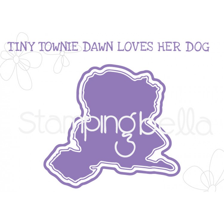 "Stamping Bella - Tiny Townie Dawn loves her Doggie ""CUT IT OUT"" DIE"