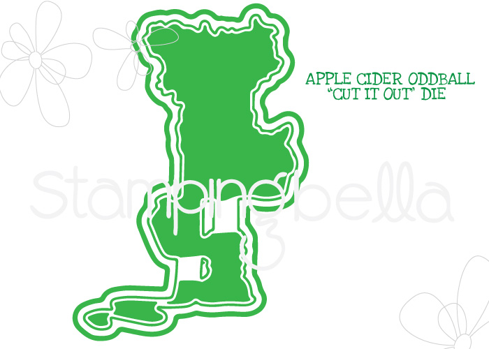 **S** Stamping Bella - APPLE CIDER ODDBALL CUT IT OUT DIE