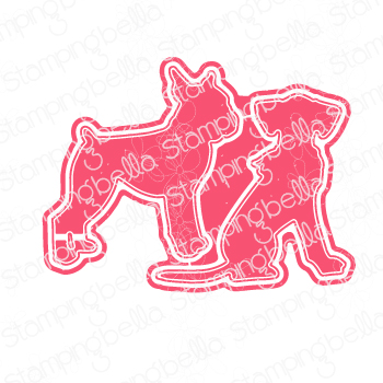 **S** Stamping Bella - BOXER AND DALMATION CUT IT OUT DIE