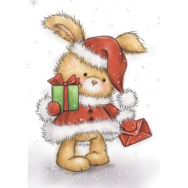 *NEW* - Wild Rose - Christmas Bunny