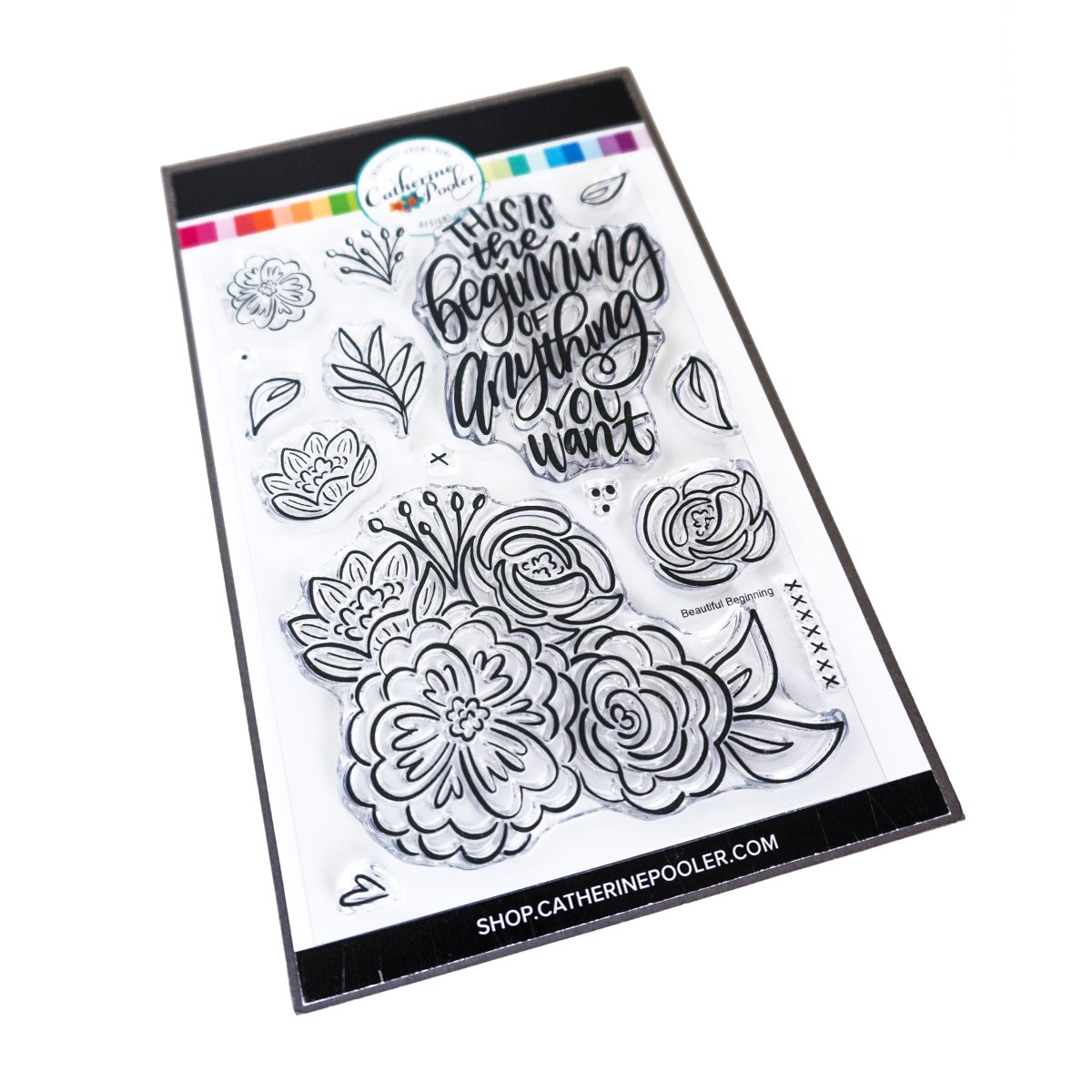 *NEW* - Catherine Pooler - Beautiful Beginning Floral Stamp Set