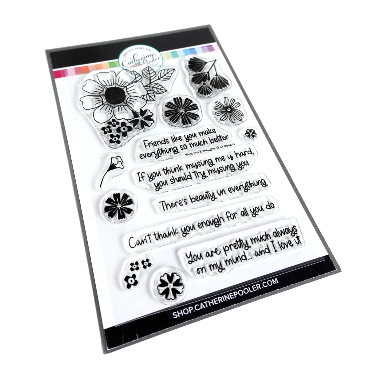 Catherine Pooler - Blossoms & Thoughts Stamp Set