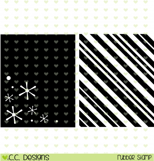 **CL* C.C. Designs Holiday Backgrounds Rubber Stamps
