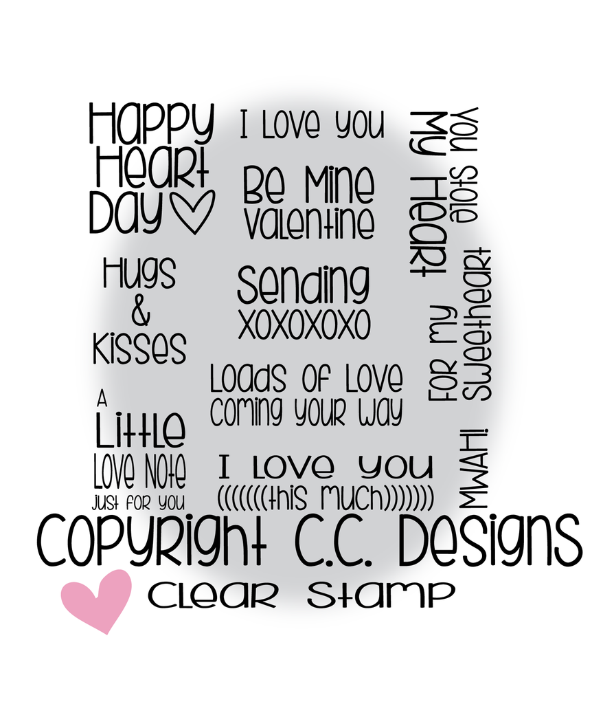 *LS*CC Designs - XOXO Sentiments Clear Stamp
