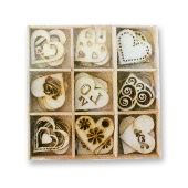 Crafts Too Wood Embellishments - Love