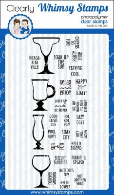 Whimsy Stamps - Bottoms Up - Clear Stamps