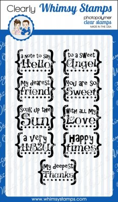 Whimsy Stamps - Bracket Sentiments - Clear Stamps