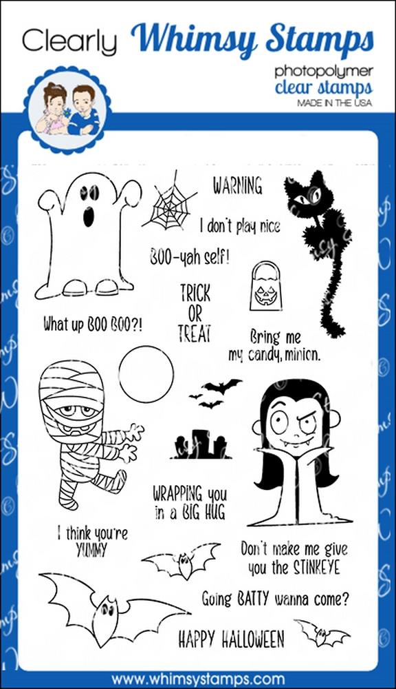 Whimsy Stamps - Halloweeners Clear Stamps