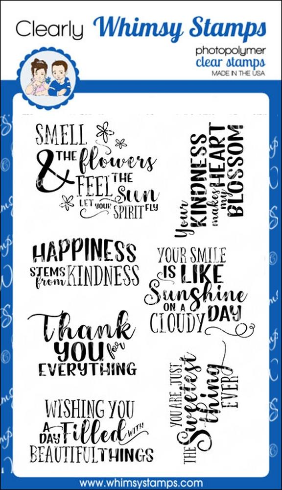 Whimsy Stamps - Beaucoup Bouquet Sentiments