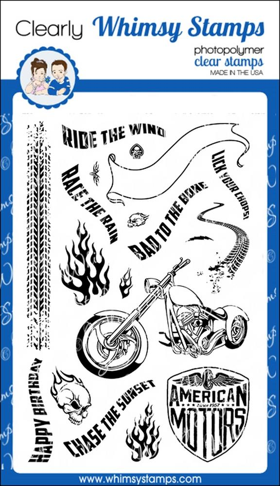 Whimsy Stamps - Biker Bad to the Bone