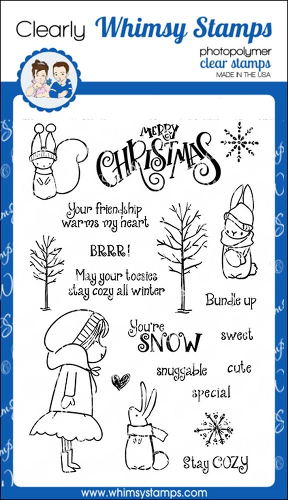 Whimsy Stamps - Bundled Up Clear Stamps