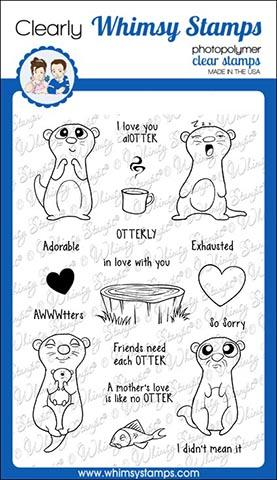*PRE-ORDER* - Whimsy Stamps - Adorable Otters Clear Stamps