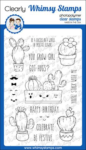 Whimsy Stamps - Cute Cacti Clear Stamps