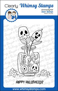 *NEW* - Whimsy Stamps - Halloweeds Clear Stamps